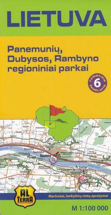 Lietuva. Panemunių, Dubysos, Rambyno regioniniai parkai. M 1:100 000