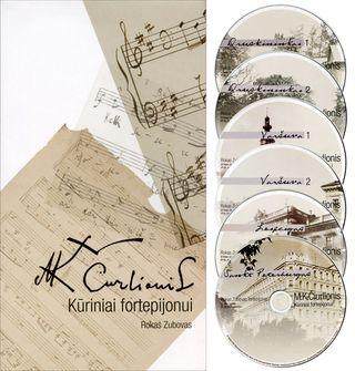 M. K. Čiurlionis. Kūriniai fortepijonui (bukletas ir 6 CD)