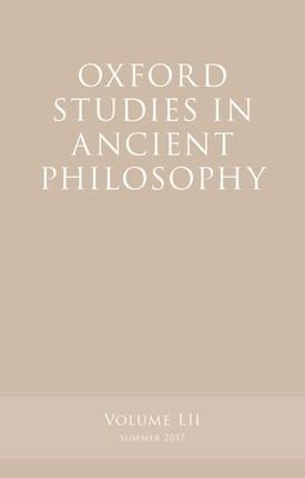 Oxford Studies in Ancient Philosophy, Volume 52