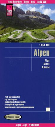 Reise Know-How Landkarte Alpen 1:550.000