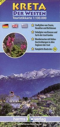 Kreta Touristikkarten. 1:100 000 / Kreta (Der Westen)