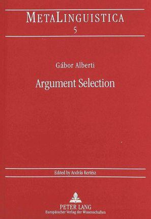 Argument Selection