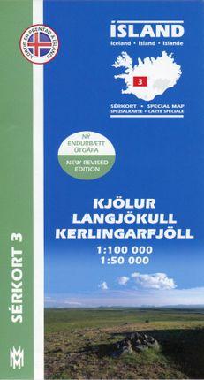 Island Serkort 03 Kjölur - Langjökull - Kerlingarfjöll 1 : 100 000 / 1 : 50 000