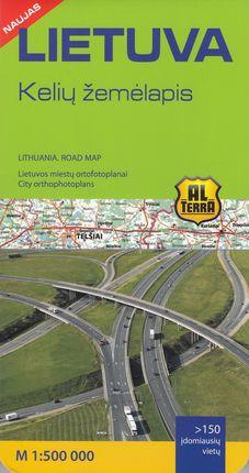 Lietuva Kelių žemėlapis. M 1:500 000