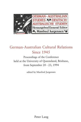 German-Australian Cultural Relations Since 1945