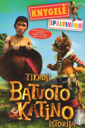 Tikroji Batuoto Katino istorija (Spalvinimo knygelė)