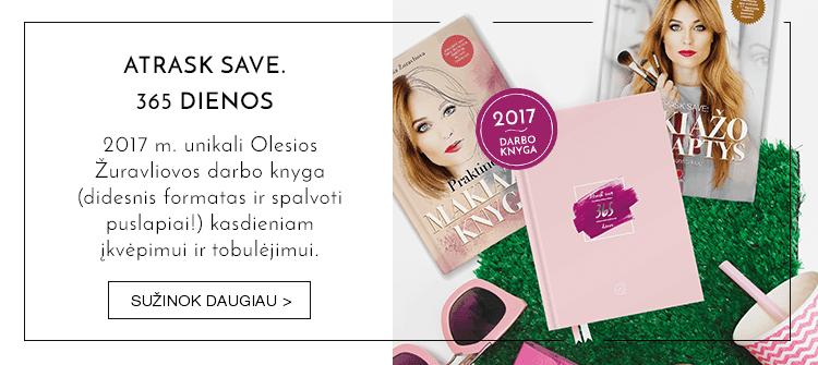 ATRASK SAVE. 365 DIENOS: tobulėk kasdien - Olesia Žuravliova sukūrė unikalią 2017 m. padidinto formato darbo knygą