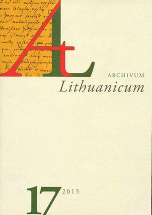 Archivum Lituanicum 17