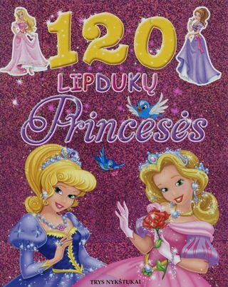 120 lipdukų. Princesės