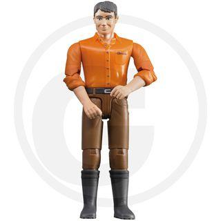 BRUDER figūrėlė vyras su rudais džinsais, 60007