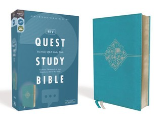 Niv, Quest Study Bible, Leathersoft, Blue, Comfort Print: The Only Q and A Study Bible