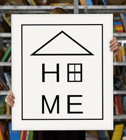 """Laimingų namų taisyklės """"Home"""", 70 x 60 cm"""