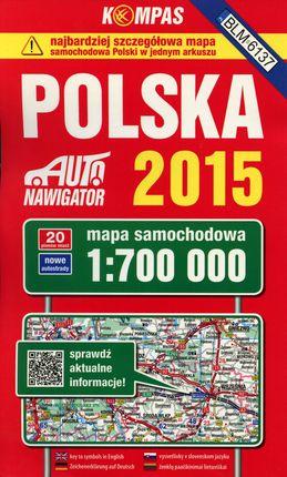 Polska (Lenkija). Kelių atlasas, 1 : 700 000