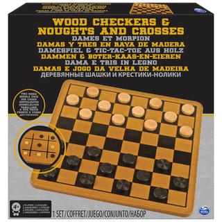 CARDINAL GAMES žaidimų rinkinys Medinės šaškės ir TTT, 6033145