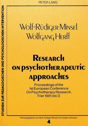Research on Psychotherapeutic Approaches