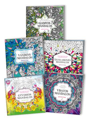 Meno terapija kūnui, sielai ir dvasiai harmonizuoti: net 5 mandalų knygos!