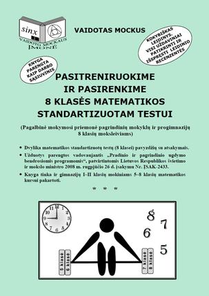 Pasitreniruokime ir pasirenkime 8 klasės matematikos standartizuotam testui