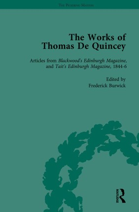 The Works of Thomas De Quincey, Part III vol 15