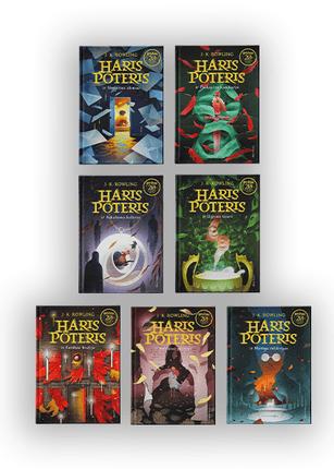 Hario Poterio 7 knygų rinkinys: nuotykių, stebuklų ir magijos kupina serija
