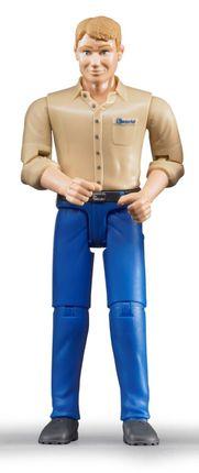 BRUDER figūrėlė vyras su mėlynais džinsais, 60006
