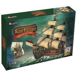 """3D dėlionė: laivas """"San Felipe"""" (didelis)"""