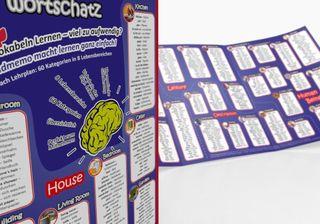 mindmemo Lernfolder - Vokabeln - Grundwortschatz Englisch / Deutsch - 1100 Vokabeln - Lernhilfe - Zusammenfassung