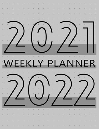 2021-2022 Monthly Planner: 24 Month Agenda, Monthly Organizer Book for Schedule and Activities, 2 Year Calendar Notebook, White Paper, 8.5″