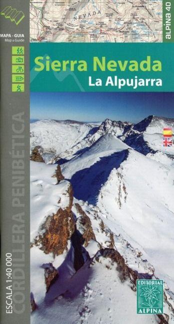 Mapa De La Alpujarra.Sierra Nevada Wanderkarte 1 40 000 Knygos Lt