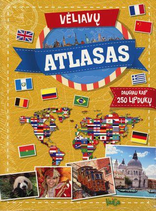 VĖLIAVŲ ATLASAS. Daugiau kaip 250 lipdukų ir vertingos žinios iš viso pasaulio!