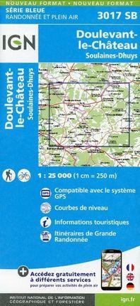 Doulevant le Chateau Soulaines Dhuys 1 : 25 000 Carte Topographique Serie Bleue Itineraires de Randonnee