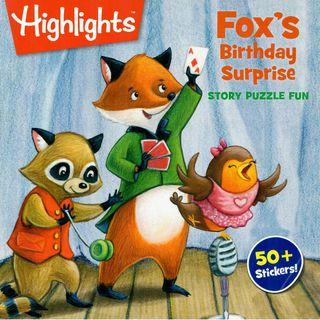Fox's Birthday Surprise. Story puzzle fun