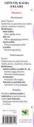 Paruoštukas. Lietuvių kalba 8 klasei