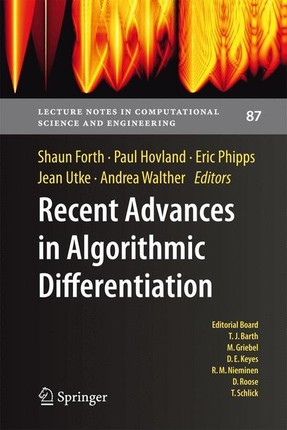 Recent Advances in Algorithmic Differentiation