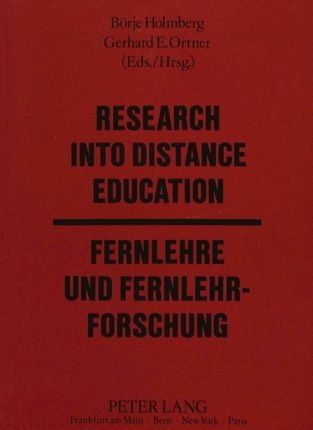 Research into Distance Education / Fernlehre und Fernlehrforschung