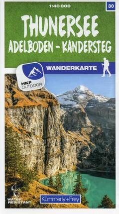 Thunersee / Adelboden - Kandersteg 30 Wanderkarte 1:40 000 matt laminiert