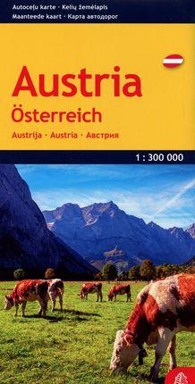 Austrijos kelių žemėlapis (išlankstomas)