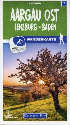 Aargau Ost Lenzburg - Baden 07 Wanderkarte 1:40 000 matt laminiert