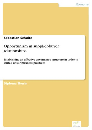Opportunism in supplier-buyer relationships