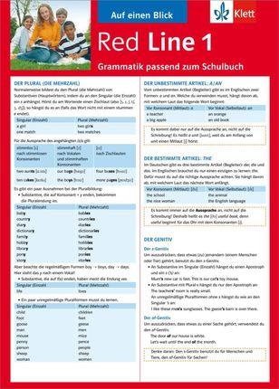 Red Line 1. Auf einen Blick. Grammatik passend zum Schulbuch