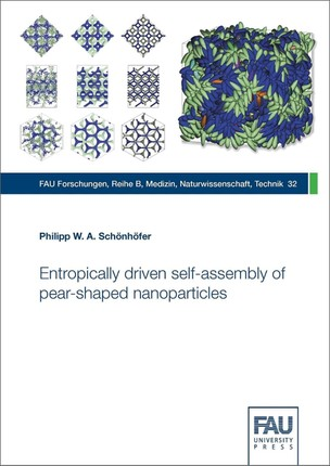 Entropically driven self-assembly of pear-shaped nanoparticles