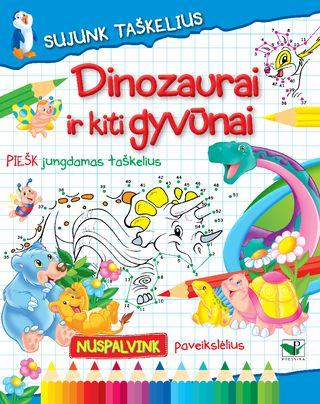 Sujunk taškelius. Dinozaurai ir kiti gyvūnai