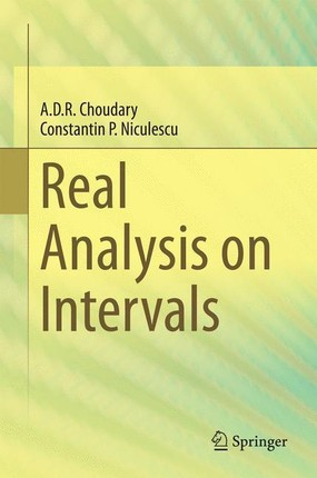 Real Analysis on Intervals