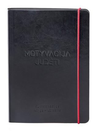 """Vlados Musvydaitės užrašinė """"Motyvacija judėti"""". Atraskite savo motyvaciją kiekvienai metų savaitei! (juoda)"""