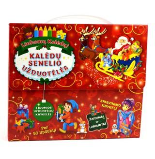 Kalėdų senelio užduotėlės: 4 įdomios užduotėlių knygelės
