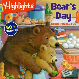 Bear's Day. Story puzzle fun