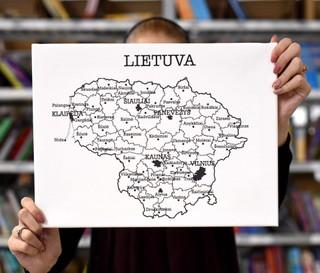 """Laimingų namų taisyklės """"Lietuva"""", 40 x 30 cm"""