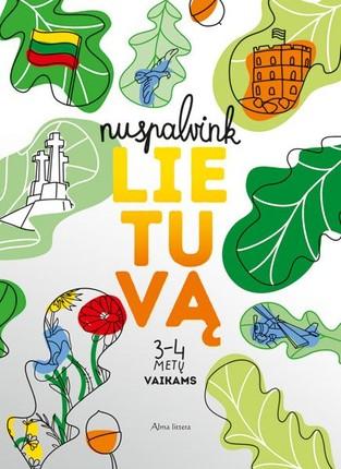 Nuspalvink Lietuvą: 3-4 metų vaikams