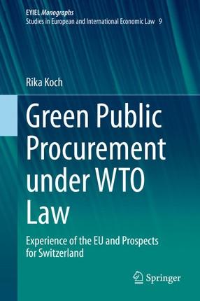Green Public Procurement under WTO Law
