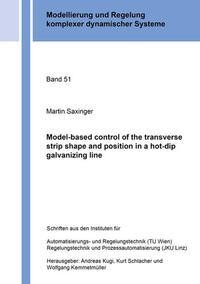 Model-based control of the transverse strip shape and position in a hot-dip galvanizing line