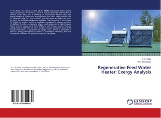Regenerative Feed Water Heater: Exergy Analysis